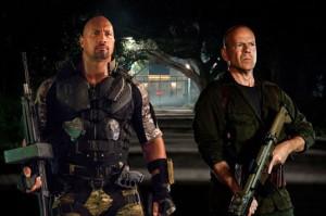 Dwayne Johnson and Bruce Willis in G.I. Joe: Retaliation
