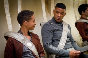 Jaden Smith and Will Smith in After Earth