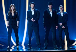 Isla Fisher, Jesse Eisenberg, Woody Harrelson, and Dave Franco in Now You See Me