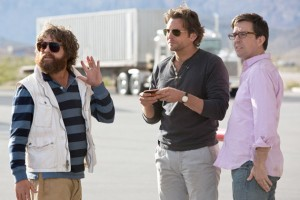 Zach Galifianakis, Bradley Cooper, and Ed Helms in The Hangover 3