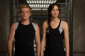 Josh Hutcherson & Jennifer Lawrence in The Hunger Games: Catching Fire