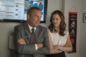 Kevin Costner and Jennifer Gardner in Draft Day