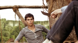 "Dylan O'Brien in ""The Maze Runner"""