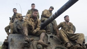 "Shia LaBeouf ,Brad Pitt, Logan Lerman, Michael Peña, and Jon Bernthal  in ""Fury."""
