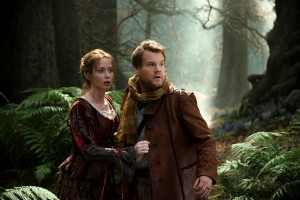 James Corden and Emily Blunt in Into the Woods.