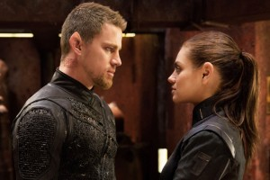 Channing Tatum and Mila Kunis in Jupiter Ascending