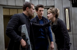Theo James, Miles Teller, and Shailene Woodley  in Insurgent