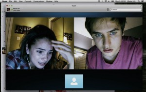 Shelley Hennig and Moses Jacob Storm in Unfriended