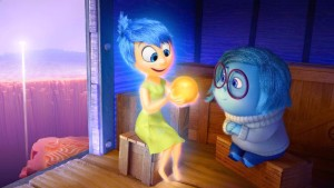 Joy (Amy Poehler) and Sadness (Phyllis Smith) in Inside Out