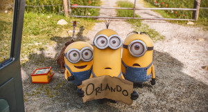 Bob, Kevin, and Stuart (all voiced by Pierre Coffin) in Minions