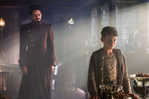 Hugh Jackman and Levi Miller in Pan