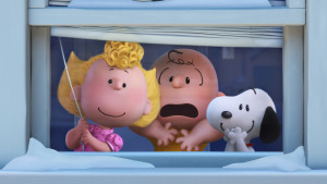 Sally Brown, Charlie Brown, and Snoopy in The Peanuts Movie