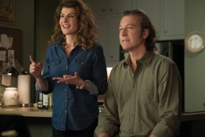 Nia Vardalos and John Corbett in My Big Fat Greek Wedding 2