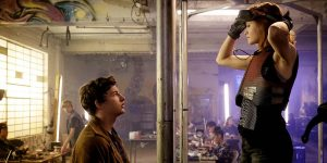 Tye Sheridan and Olivia Cooke in Ready Player One